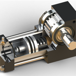 A4 rotary actuator cutaway shown
