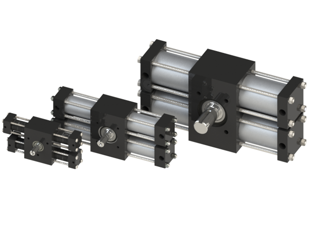 Dual rack Tie Rod Rotary Actuator Group