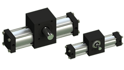 Single rack stepping actuators
