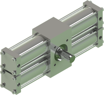 Stainless A42 rotary actuator