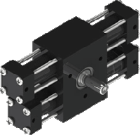 a12 3-position rotary actuator