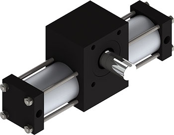 Rotomation S4 Stepping Actuator will provide you with an incremental drive that will rotate in one direction and coast to a stop as the inertial load decelerates